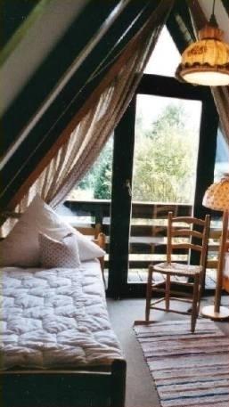 Ein Schlafraum im Ferienhaus Hettich