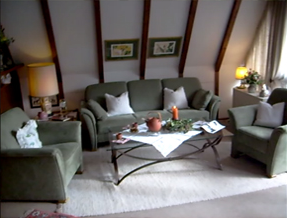 Wohnerzimmer im Ferienhaus Hettich in Vorauf